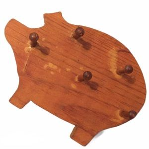 ✨3/$20✨ VTG 🐷 Farmhouse Pig Rack Woodshop Project